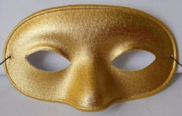 Gold Metallic Domino Mask